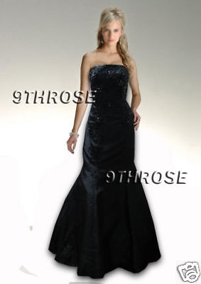Stunning Laced & Beaded Prom/ball Gown Black Au 14/us12