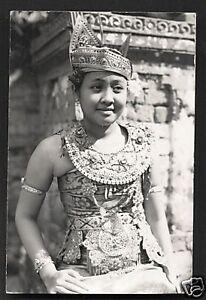 Bali rppc Legong Dancer BEAUTY Costume Indonesia 20s