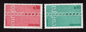 Andorra-French-Adm-1971-SC-205-206-H-Common-Design