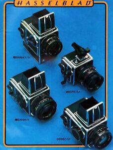 1980 HASSELBLAD CAMERA SYSTEM CATALOG BROCHURE -500C/M-SWC/M-500EL/M-HASSELBLAD