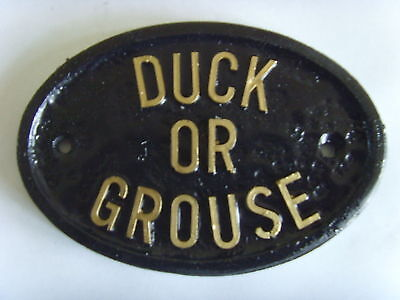 * DUCK OR GROUSE  LO BEAMS HOUSE SIGN BUSINESS PLAQUE
