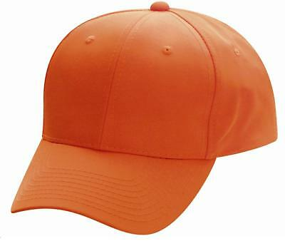 Blaze Orange Cap Hunting Cap Outdoor Cap 301is Baseball Hat