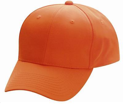 Blaze Orange Cap Hunting Cap Outdoor Cap 301is Baseball Hat