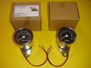 XS-500-CAFE-RACER-MINI-COMPTEUR-COMPTE-TOURS-CHROME