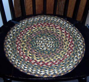 Primitive-Braided-Folk-Art-Country-Round-Chair-Pad-51