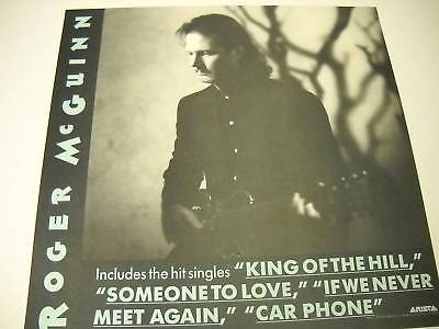 ROGER McGUINN 2-sided PROMO COLLECTOR FLAT Back Rio