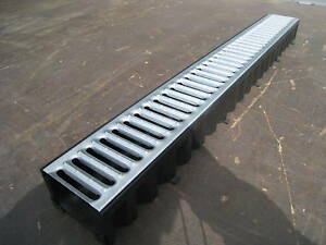 Drainage Channel Aco Driveway Amp Patio Galv Grates 1mtr Ebay