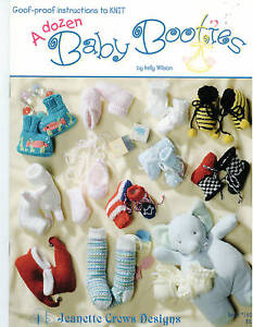 Knitting: A Dozen Baby Booties
