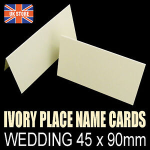 250-x-Place-Name-Cards-Blank-Wedding-Party-Ivory-225gsm