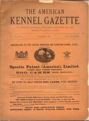 American Kennel Club Gazette  1892  Extremely Rare