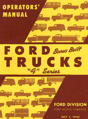 1950 Ford Truck Owner's Manual- Series F-1 Thru F-8