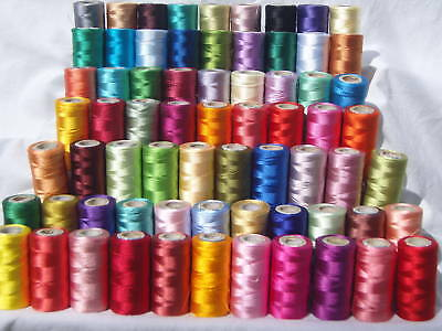 75 Spools of  Embroidery Thread for Brother,Janome, Singer & more, 75 Colours