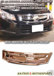 08-10-Accord-4dr-JDM-Modulo-Front-Grill-Grille-Chrome