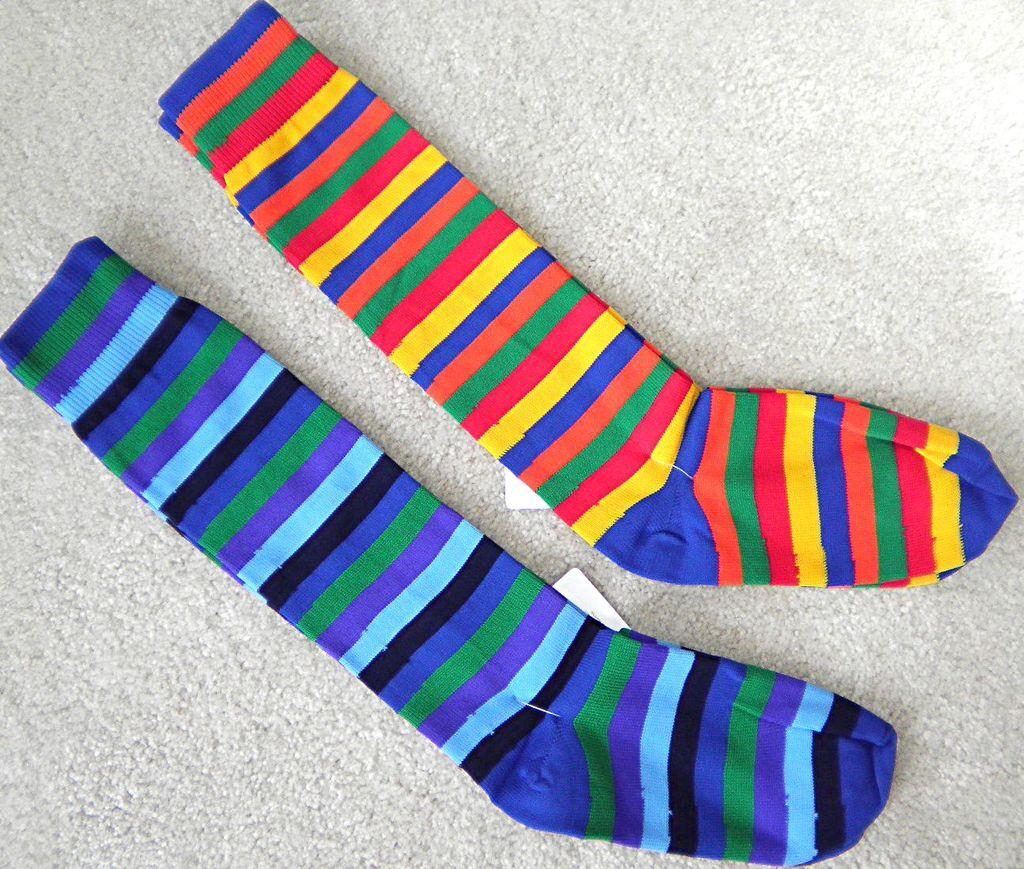 Girls Rainbow Soccer Softball Socks 4 Cleats 3-4-5-6-7