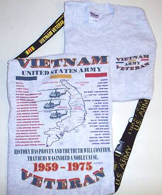 Vietnam U.s. Army Emblem & Military Unit 2 Sided Shirt