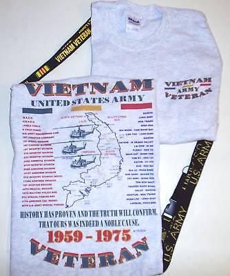 Vietnam U.s. Army Emblem & Military Unit 2 Sided Shirt