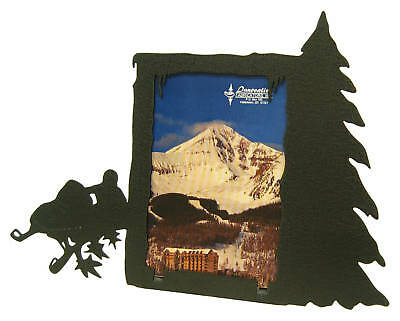 Snowmobile Black Metal 3x5v Picture Frame