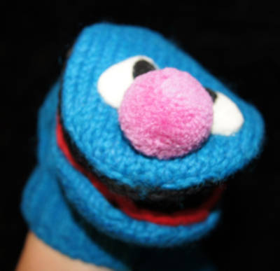 deLux GROVER MITTENS knit SESAME STREET blue ADULT muppets puppet animal costume