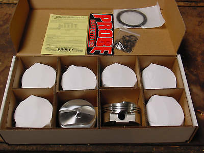 Ford 429 460 514 532 557 New Stroker Probe Forged Pistons  4.390 6.800 Flat top