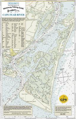 Sealake North Carolina Cape Fear River Fish Map Chart