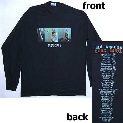 "MATCHBOX TWENTY 20 ""MAD SEASON"" 2001 TOUR LONG SLEEVE SHIRT LARGE NEW OFFICIAL"