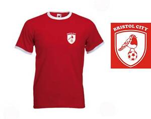 NEW-Bristol-City-FC-Retro-Style-Football-Club-T-Shirt-XXL