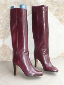 Stiefel Vintage 1982  Bordeaux  - MARMOLADA Artisanal Italien --- T. 39,5