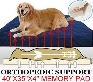 Heavy Duty Orthopedic Waterproof MEMORY FOAM Pet Bed for Small - Extra Large Dog