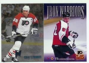 4-CARD-LOT-1996-FLEER-METAL-HOCKEY-IRON-WARRIORS-1-2-7-12