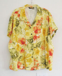 Two Palms Womens Hawaiian Rayon Shirt Sz 4XL - NWOT