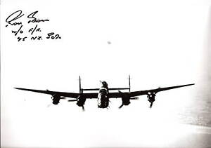 WW2-LANCASTERS-Bomber-Command-in-person-SIGNED-Flight-engineer-RON-BROWN-75sqn