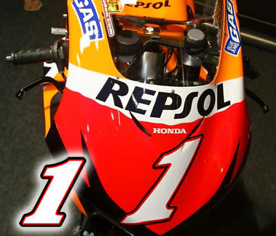 Number One Decal Sticker For Honda Championship