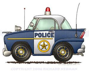478-Police-Car-Patrol-Car-Print-Kids-Wall-Decor-Art
