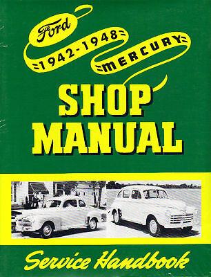 1942 43 44 45 46 47 48 Ford/mercury Car Shop Manual