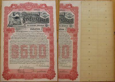 1904 San Francisco Bond-Eugene Edward Schmitz Autograph