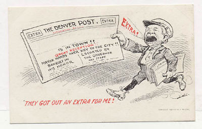 1906 The Denver Post Adv Denver Signed Postcard Pc4915