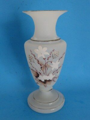 Antique Victorian Bristol Glass Signed I Glass Vase Art