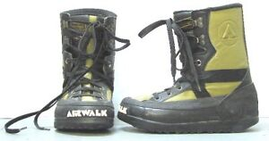 Airwalk-Mens-Snowboard-Boots-Size-8-Black-Green-USED