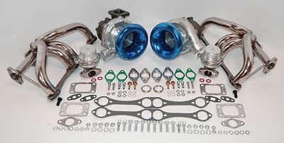 Small Block Chevy Twin Turbo Kit Sbc 350 383 1000+hp Turbocharger Air Horns