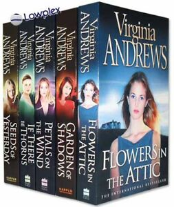 Flowers in the Attic 5 Books Set Petal on the Wind Virginia Andrews Collection