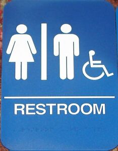 A-D-A-Unisex-Handicap-Braille-Restrooms-Sign-ADA-Blue-or-Brown