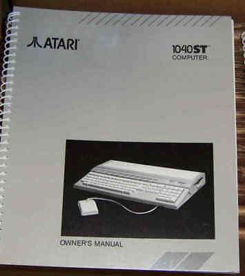 1040ST Owners Manual New Atari Original also for 520ST @1986