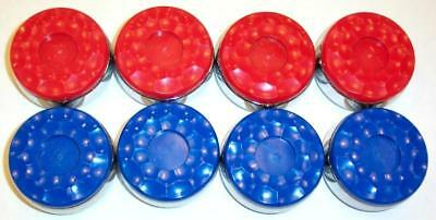 Regulation Shuffleboard Puck Set - 4 Red And 4 Blue