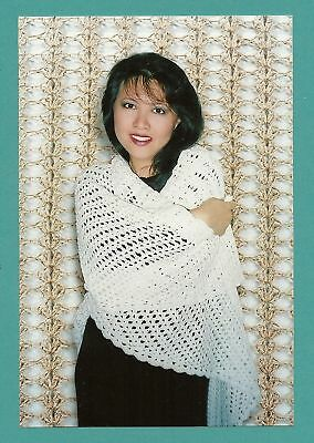 Easy Crocheted Triangle Lace Shawl By Lily Chin Of Fiber Trends