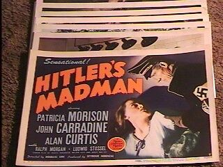 HITLERS MADMEN LOBBY CARD SET '43 SUPER RARE WILD
