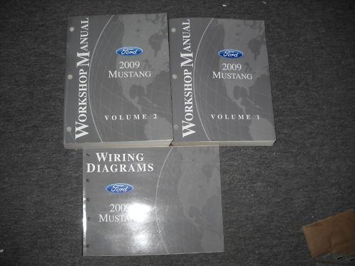 2009 Ford Mustang Gt Cobra Mach Service Shop Repair Manual Set W Wiring Diagram