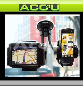 Car-Mobile-Phone-Sat-Nav-iPod-iPhone-Twin-Gadget-Holder