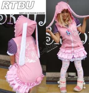 TINKERBELL-BUNNY-Rabbit-Ear-Dress-COS-Vest-Skirt-Jacket
