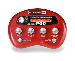 Line 6 Pocket Pocket Pocket Pod Guitar multi effects pedal & fuente de alimentación  venta caliente en línea