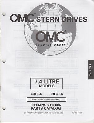 1997 Omc Stern Drives 7.4 Litre Parts Catalog